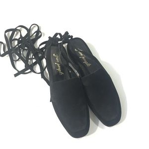 Free People Lace Up Loafers